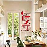 Cocina Francesa Etiqueta de Vinilo Etiqueta de la Pared Wallpaper Wallpaper Arte de la Pared Apliques de Cocina decoración para el hogar decoración de la casa 25X60CM