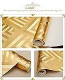 Papel pintado decorativo de KTV Patrón geométrico 3D Café del vino rojo Oro Flash Papel tapiz reflectante de oro , 3-33007 golden yellow
