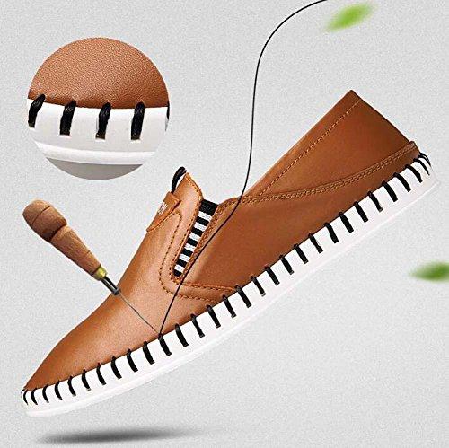 Pumpe Schlüpfen Beiläufig Schuhe Loafer Männer Atmungsaktiv hohl Pure Farbe Pedal Schuhe Sneaker Fahrschuhe Faulen schuhe Eu Größe 38-44 Brown