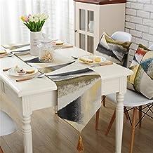 """Europa moderna camino de mesa (tela jacquard, funda para mesa, bodas y fiestas decoración, Amarillo, 32 * 180cm(12.5""""*70"""")"""