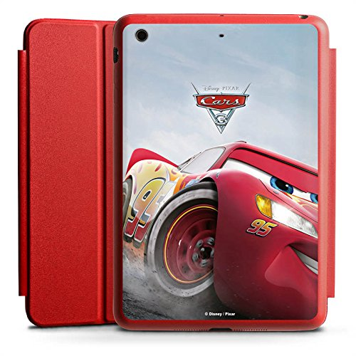 DeinDesign Apple iPad Mini 4 Smart Case rot Hülle mit Ständer Schutzhülle Lightning McQueen Cars 3 Disney Cars