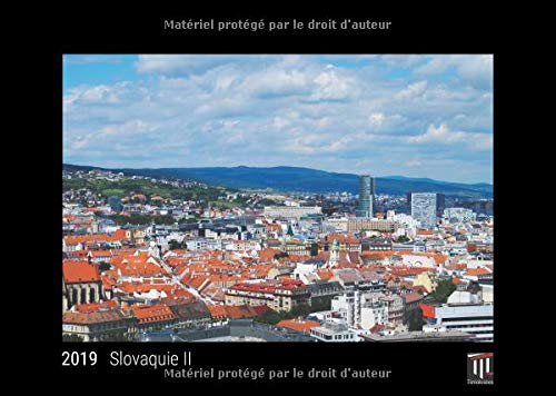 Slovaquie II 2019 édition noire calendrier mural timokrates calendrier photo cal