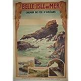 FRANCIA VINTAGE POSTER CARTEL PUB RETRO 50x70cm Centros de información turística Belle Ile en Mer