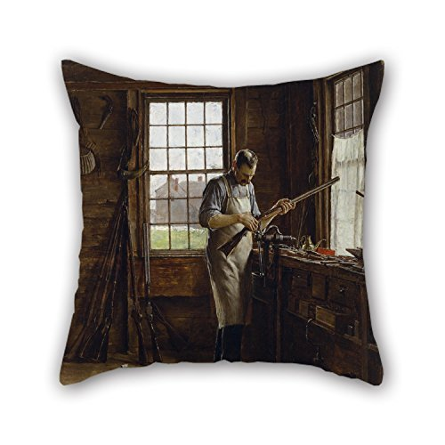 18 X 18 Inches / 45 by 45 cm Oil Painting Edgar Melville Ward - The Gunsmith Shop Throw Pillow Case,Double Sides is Fit for Kitchen,Divan,Kids Room,Lover,Lounge,bar Seat ()