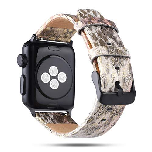 Feinny Smart Armband Uhren Armbanduhr/Fashion Personality Serpentine Strap Uhr Ersatzgürtel Ersatzgürtel/Für Apple Watch Serie 4/3 Lederarmband - 38/40MM