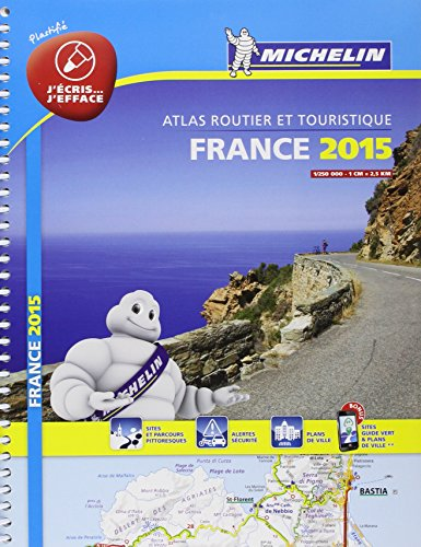 Atlas France 2015 Plastifié Michelin par Collectif Michelin