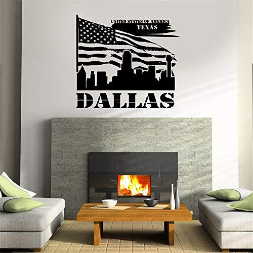 wandaufkleber spruch disney USA-Flagge Dallas Texas America Bedroom Livingroom
