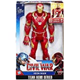 Hasbro B 6177 - Marvel - Capitán América - El primer vengador - Guerra Civil - héroe Titan - Electronic Iron Man - 30 cm gro§ (Idioma Inglés)
