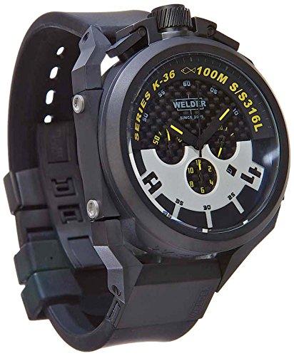 Welder K36-2402 - Reloj para hombres, correa de goma color negro