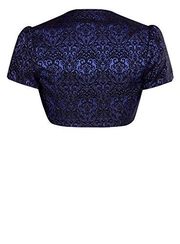 oodji Collection Femme Boléro en Jacquard Bleu (7529J)