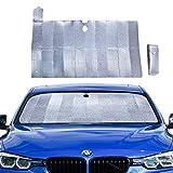 Die besten Windschutzscheibe Sonnenschutz - PowerTiger Auto Sonnenschutz für Frontscheibe, Aluminiumfolie Windschutzscheibe Sonnenblende Bewertungen