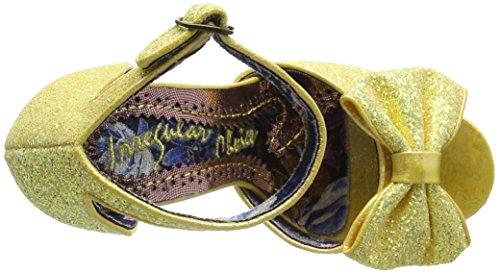 Irregular Choice Flaming June, Scarpe Col Tacco con Cinturino a T Donna Yellow (Yellow)
