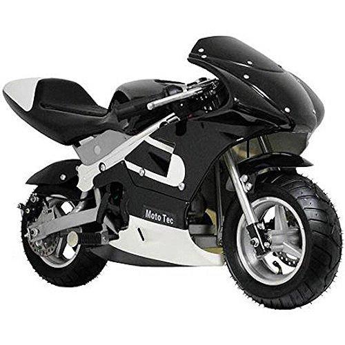 MotoTec Gas Pocket Bike Motorcycle -Black - Non CA compliant by MotoTec