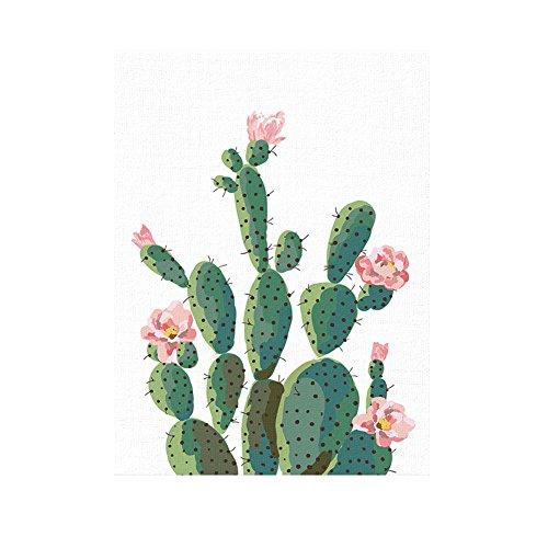 bdrsjdsb Grünpflanze Kaktus Dekorative Wandkunst Malerei Sofa Hintergrund Wohnkultur Poster 50 cm x 70 cm (Sofa Bilder)