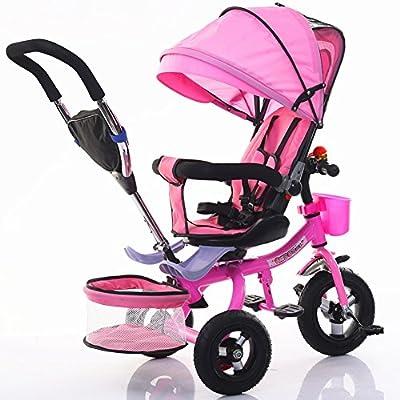 Strollers NAUY @ Triciclo de niños Bicicleta Plegable Cochecito de bebé 1-6 años de Edad Titanio Rueda vacía Marco de Coche Color Sillas de Paseo
