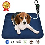RIOGOO Pet Heating Pad, Electric Heating Pad for Dogs and Cats Indoor Warming Mat with Auto Power Off 45 x 45cm(UK)