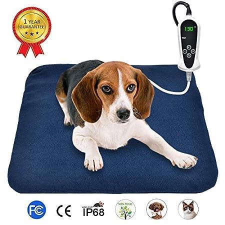 RIOGOO Haustier-Heizkissen, elektrisches Heizkissen für Hunde und Katzen Innenwärmematte mit automatischer Abschaltung…