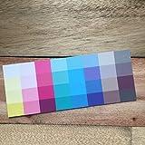 Großer Farbpass Sommertyp 32 Farben Sommertyp, Farbkarte, Sommerfarben Sommertyp,kalter Farbtyp, Farbfächer, Farbberatung, Typberatung, Farbkarten, Farbpalette Vergleich