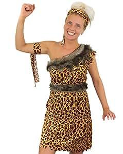 CAVE WOMAN FANCY DRESS COSTUME LADIES CUTE LEOPARD PRINT DRESS BELT, HEADBAND, ARMBAND (EXTRA SMALL)