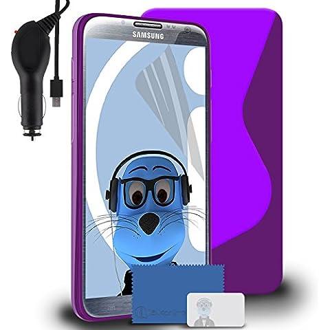 iTALKonline Samsung SCH-I605 Galaxy Note 2 Porpora TPU S line