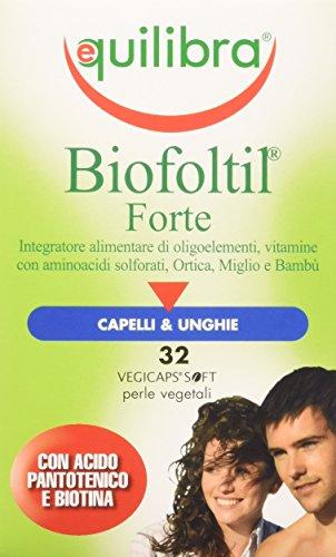Equilibra - Biofoltil Forte, Vegicaps - 2 confezioni da 32 capsule [64 capsule]
