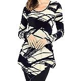 Best FACE N FACE White Blouses - Lazzboy Women O Neck Random Print Long Sleeve Review