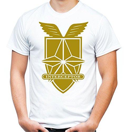 uglyshirt89 Interceptor Männer und Herren T-Shirt | Spruch Auto Kleidung Geschenk (XXL, Weiß) (Road-kostüm Mad Max Fury)