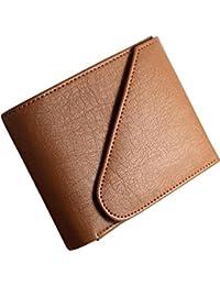 Beautylife Tan Men'S Tri-Fold Wallet