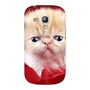 Delighted Kitty In Red Fur Back Case Cover for Galaxy S3 Mini