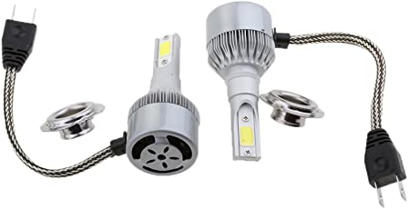 MagiDeal 2X White LED Headlight Bulb Headlamp 6000K 3800LM 36W Car Driving Light - H7