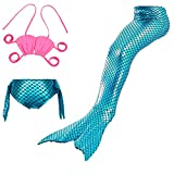 Lee Little Angel Girl Shining Mermaid Schwanz Bikini Anzug Set (130, JP44)