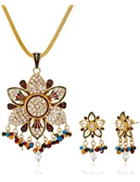 Aakshi Multi-Colour rhinestonePendant Set for Girls AKS_ST_STARM