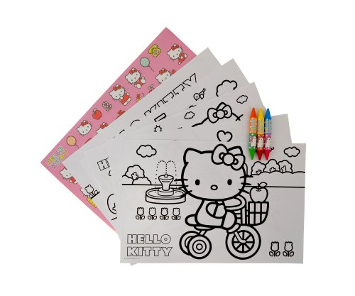 Image of Hello Kitty Giant Colouring Set