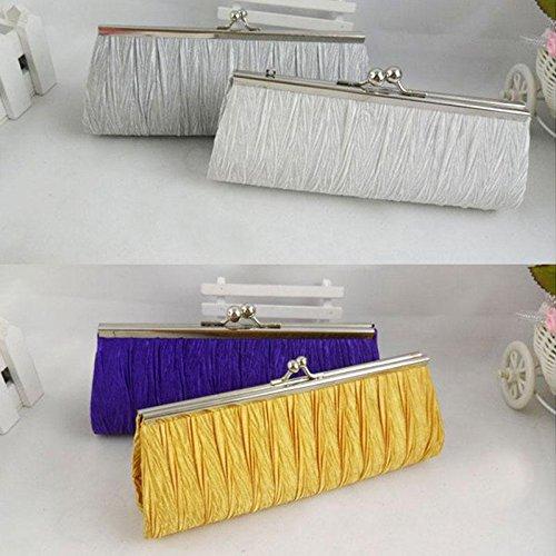 calistous 1Marke neue hohe Qualität Handtaschen elegant Dance Plissee Handtasche schwarz Weiß (Handtasche Plissee Schwarz)