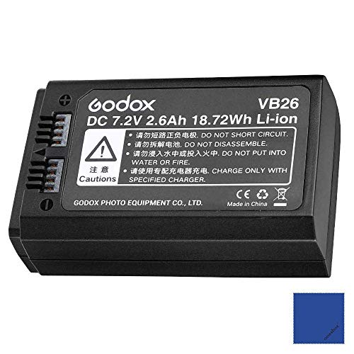 Godox VB26 Batteria al litio 72 V 2600 mAh per Godox V1 C/N/S/F/O/P Flash
