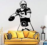 wwwff Begeisterung Spielen Rugby Tapete Wandaufkleber Dekoration Zubehör Für Wohnzimmer Wandtattoo Wohnaccessoires 58 * 67