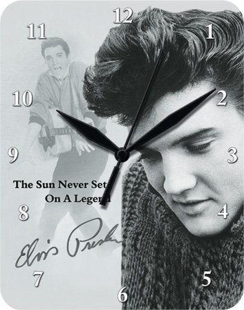 Elvis Presley Sun Metal Clock flat New 20x26cm VU580-1