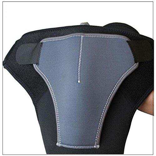 XNPP Neopren Schulterstütze Gürtel schutzart schultergurt verstellbare Sport Schulter Schutz Schulter verletzung schutz liefert , black , right (Kostüm Badminton Mädchen)