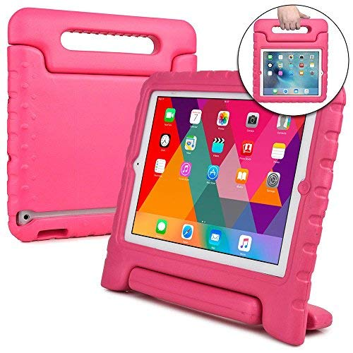 Cooper Cases(TM Dynamo iPad 2/3/4 Kids Case in Pink + Free Screen Protector (Lightweight, Shock-Absorbing, Child-Safe Eva Foam, Built-in Handle and Viewing Stand)