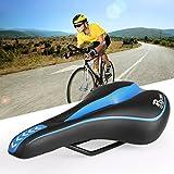 Ondeni® Fahrradsattel Sattel Fahrradsitz Gelsattel Tourensattel Damen Herren ergonomisch weich Blau+Schwarz