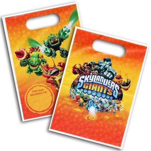 8 sacs à surprises en plastique Skylanders Giants