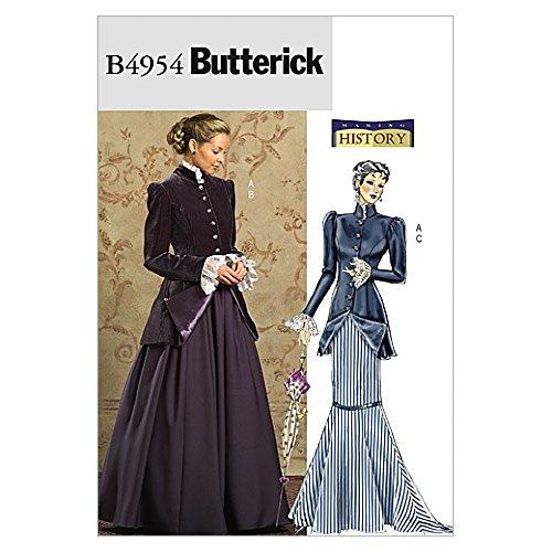 Butterick Schnittmuster 4954-Historische frühen 20. Jahrhunderts Kostüm (Frühe Kostüm)