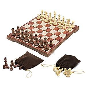 Internationales Schachspiel Magnetisches Schachspiel Tournament Staunton Schachbrettspielset aus Holz mit gefertigter…