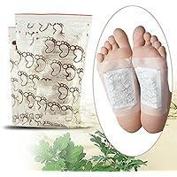 Enshey 100 unités Patchs de Pied de Detox, Patch Detoxify Toxins Adhésif pour Enlever les Toxines par les Pieds