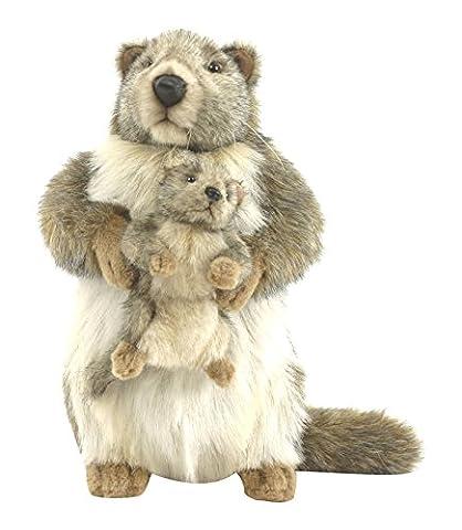 Nounours Et Les Marmottes - Anima - Peluche Marmotte avec Bé©bé© -