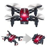 HASAKEE Mini Drone Pieghevole con Controllo Altitudine e Funzione Headless,2.4Ghz Sensore giroscopico a 6 assi RC Quadcopter con 3D FLIPS,Buono per principianti by HASAKEE