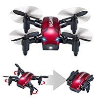 H6 Foldable RC Mini Drone with Altitude Hold and Headless Mode 2.4GHz 6-Axis Gyro Pocket Quadcopter with One-Button 360° Flip and 10 MINUTES Flying Time,Fun Gift for Kids by HASAKEE
