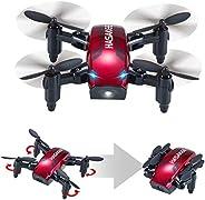 H6 Mini Drone Plegable con Control de Altura y Modo sin Cabeza 2.4GHz 4CH 6-Axis Gyro RC Quadcopter con Flips