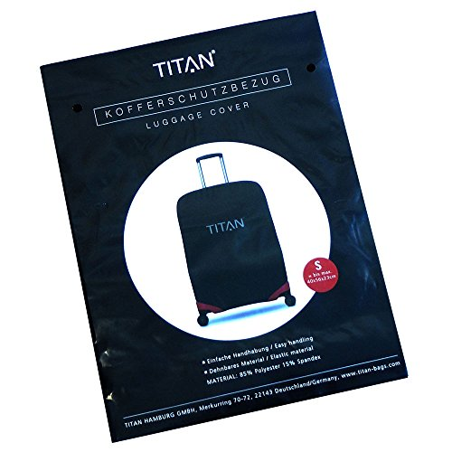 TITAN Luggage Cover UNIVERSAL - aus elastischem Spandex Polyester für 4-Rad Trolleys S, black, 825306-01 Bagaglio a mano, 55 cm, 0.01 liters, Nero (Black)