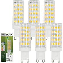 MENGS® Pack de 6 Bombilla LED G9 10W (80W Bombilla Halógena Equivalente) Blanco
